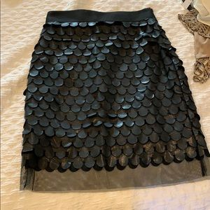 Black Leather Milly Skirt